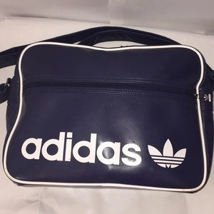 Vintage Adidas blue overnight crossbody bag